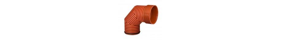 Гофрированные полипропиленовые фитинги для наружной канализации