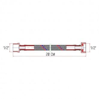 Гибкая подводка для воды SD Forte ВН 20 см цена