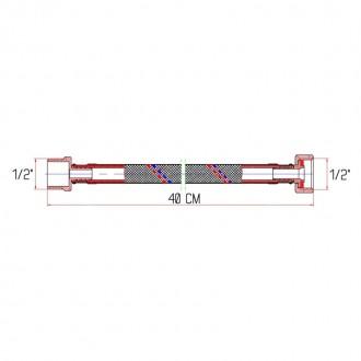 Гибкая подводка для воды SD Forte ВН 40 см цена