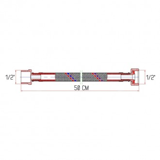 Гибкая подводка для воды SD Forte ВН 50 см цена