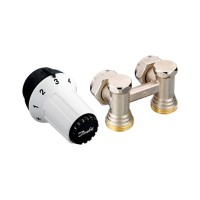 Комплект для подключения стальных радиаторов Danfoss RAS-C+RLV-KS, заднее подключение 013G5278