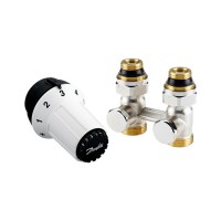 Комплект для подключения стальных радиаторов Danfoss RAS-C+RLV-KS, нижнее подключение 013G5277