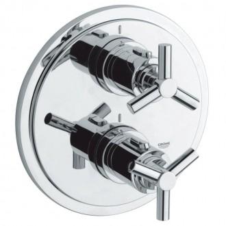 Внешняя часть термостатического смесителя для ванны Grohe Atrio 19395000 для встроенной части 35500000 цена