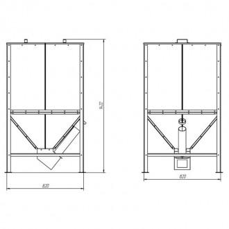 Бункер для твердотопливного котла Thermo Alliance Vulcan SF 0,6 куб. м. цена