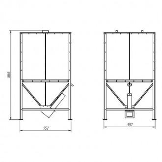 Бункер для твердотопливного котла Thermo Alliance Vulcan SF 1,0 куб. м. цена