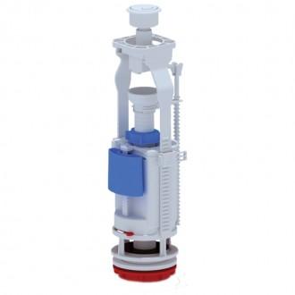Арматура ANI Plast WC7050C двухуровневая, регулируемая без клапана, хромированная кнопка цена