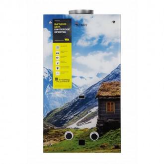 Колонка газовая дымоходная Thermo Alliance JSD20-10F2 10 л стекло (горы) цена