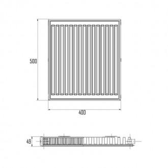Радиатор стальной Aquatronic класс 11 500Hх0400L боковое подключение цена