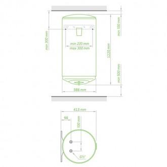 Водонагреватель Tesy Anticalc Slim 80 л, 1,2 кВт GCV 803524D D06 TS2RC цена