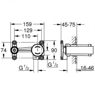 Встраиваемый механизм под смеситель Grohe 23571000 цена