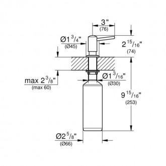 Дозатор для моющего средства  Grohe  Contemporary 40536000 цена