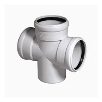 Крестовина для бесшумной канализации Poliplast 110х110х110/67