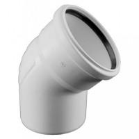 Колено для бесшумной канализации Rehau Raupiano Plus DN 110, 15°