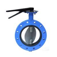Затвор дисковый поворотный фланцевый чугунный, Ду 100 / диск-нж сталь 316 / VITON / PN16