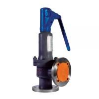 Клапан предохранительный пружинный угловой пропорциональный фланцевый стальной, Ду 100 / PN16