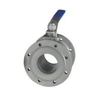 Кран шаровой фланцевый нержавеющий трехсоставной Ду 15 / шар-нж сталь 316 / PTFE / PN40
