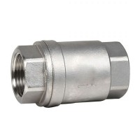 Обратный клапан муфтовый нержавеющий, Ду 15 / тарелка-нж / PTFE / PN16