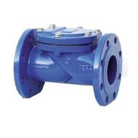 Обратный клапан поворотный фланцевый чугунный, Ду 100 / тарелка-сталь + NBR / NBR / PN16