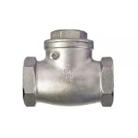 Обратный клапан поворотный муфтовый нержавеющий, Ду 15 / тарелка-нж сталь 304 / PN16