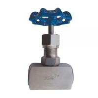 Вентиль муфтовый нержавеющий игольчатый, Ду 15 / шток-нж сталь 316 / PTFE / PN140